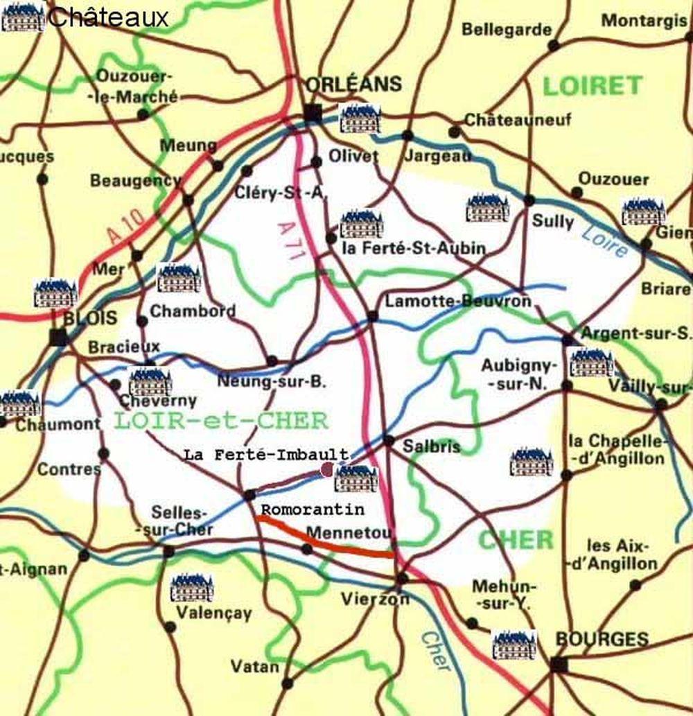carte de la sologne Theudericus : La Sologne.