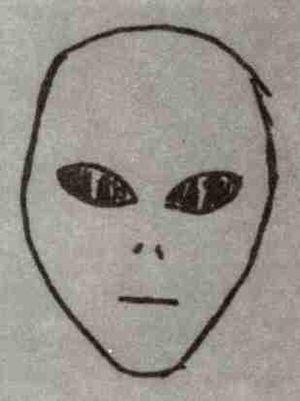 Roswell : Visage d'Extra-terrestres (d'après Elias Benjamin).